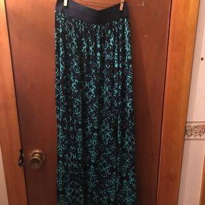 Joe B Blue and Green Maxi Skirt